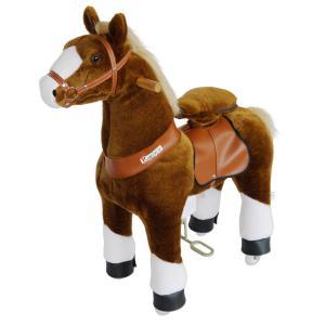 Ponycycle - N4151 - Cheval brun avec bas de jambes blancs hauteur siège 62 cm - dim. 80 x 34 x 93 cm (380966)