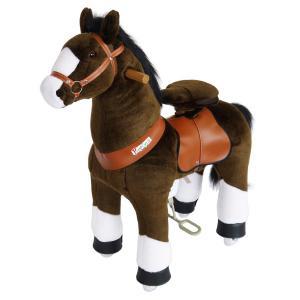 Ponycycle - N4152 - Cheval chocolat avec bas de jambes blancs hauteur siège 62 cm - dim. 80 x 34 x 93 cm (380968)