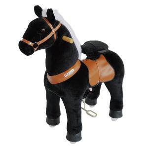 Ponycycle - N4181 - Cheval noir hauteur siège 62 cm - dim. 80 x 34 x 93 cm (380970)