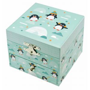Trousselier - S20801 - Coffret Musique Cube Pingouin (382778)