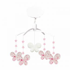 Trousselier - VM1166 99 - Mobile Musical Etoiles Papillons - Fleurs Roses (382846)