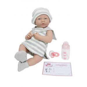 Berenguer - 18518 - Poupon Newborn nouveau né  sexué fille habillé avec tenue à rayures (383246)
