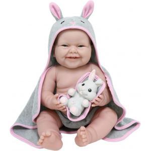 Berenguer - 18007 - Poupon Newborn nouveau né sexué garçon tenue tricotée bleue avec couverture 38 cm (383260)