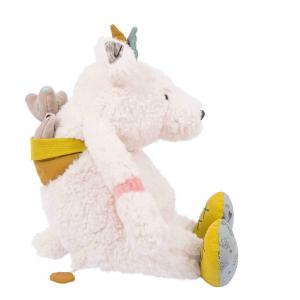 Moulin Roty - 714041 - Ours blanc musique Pom Le voyage d'Olga (383298)