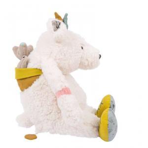 Moulin Roty - 714041 - Poupée musique ours blanc Pom Le voyage d'Olga (383298)