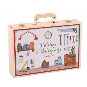 Moulin Roty - 710412 - Grande valise bricolage (14 outils) (383350)