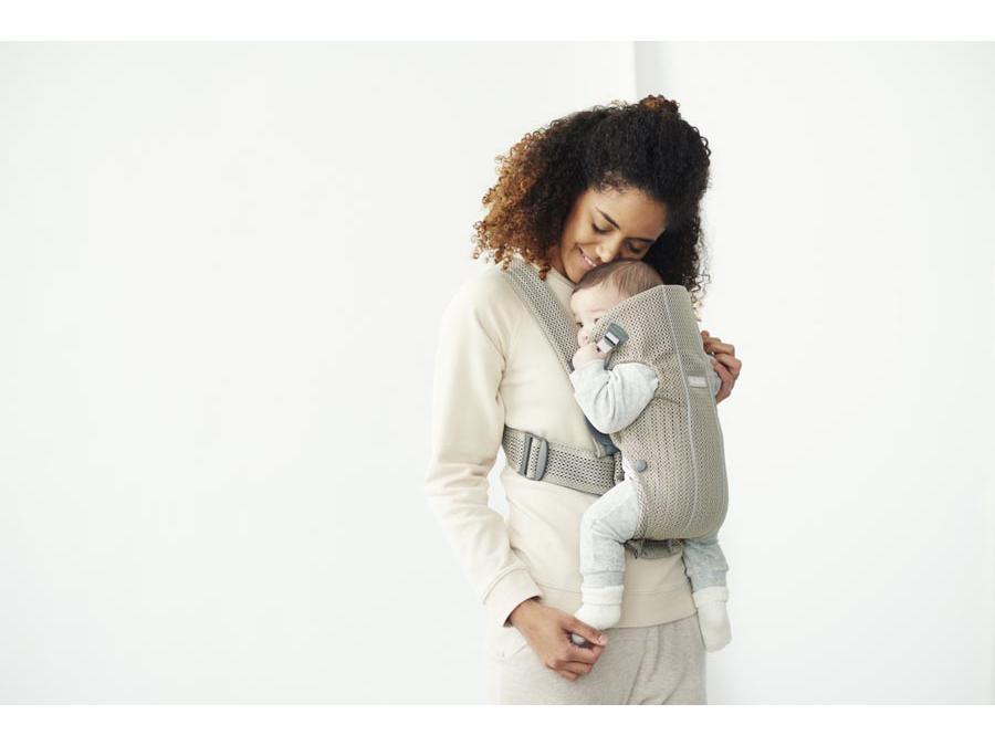 Babybjorn - Porte-bébé Mini , Grège, Mesh 3D 7d0c31aaa9a