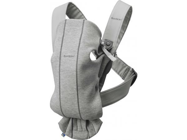 Porte-bébé mini , gris clair, jersey 3d