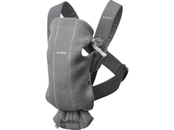 Porte-bébé mini , gris foncé, jersey 3d