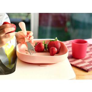 Beaba - 913425 - Cuillère 2ème âge soft en silicone - pink (384180)