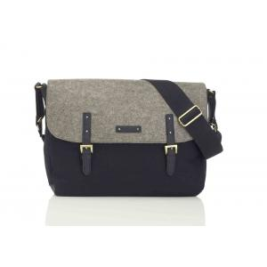 Storksak - SK7836 - Sac à langer Ashley feutre gris et noir (384238)