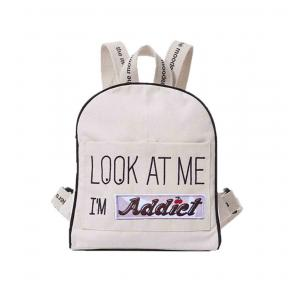 Mooders - BU099 - Sac à dos Moodkid écru Patch ADDICT (384610)