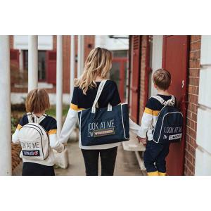Mooders - BU087 - Sac à dos Moodkid écru Patch LUCKY DADDY (384634)