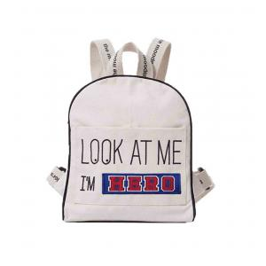 Mooders - BU079 - Sac à dos Moodkid écru Patch HERO (384650)