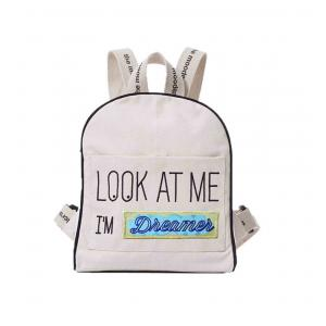 Mooders - BU076 - Sac à dos Moodkid écru Patch DREAMER (384658)