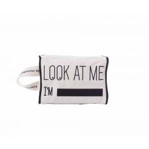 Mooders - MC001 - Trousse écru en coton bio brodée Look at me I'M... (384810)
