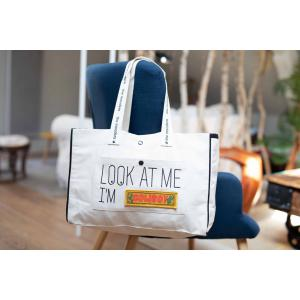 Mooders - MB001 - Grand cabas écru en coton bio brodé Look at me I'M... (384818)