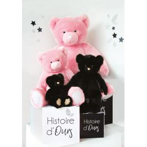 Histoire d'ours - DC3462 - Les Ours Collection by Doudou et Compagnie - OURS COLLECTION 120 cm - Rose sorbet (385776)