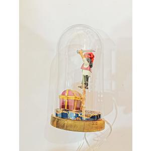 Mobilisation Générale - petit-09 - Veilleuse cloche Playmobil - Pirates - H20 cm x Diam.10 cm (385962)