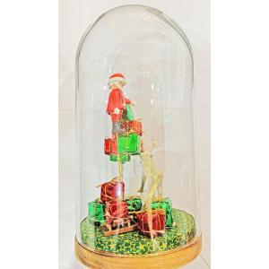 Mobilisation Générale - grand-03 - Veilleuse cloche Playmobil - Père Noël - H27 cm x Diam.14 cm (385976)