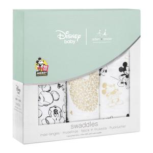 Aden and Anais - DISN350G - Pack de 3 maxi-langes classiques - Mickey's 90th (386048)