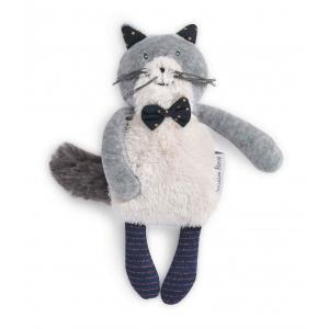 Moulin Roty - 666008 - Miniature chat gris clair Fernand Les Moustaches (386136)
