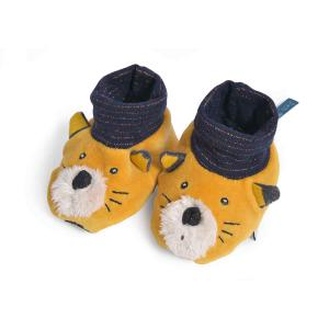 Moulin Roty - 666011 - Chaussons chat moutarde Lulu Les Moustaches (386140)