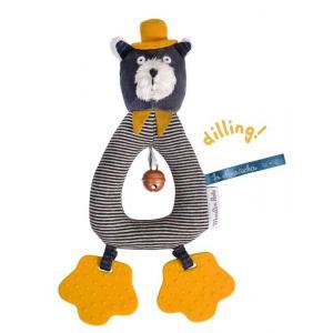 Moulin Roty - 666012 - Anneau-hochet chat gris Alphonse Les Moustaches (386142)