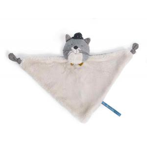 Moulin Roty - 666017 - Doudou chat gris clair Fernand Les Moustaches (386150)