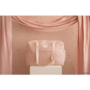 Nobodinoz - N107721 - Sac de maternité Opéra en coton bio 29x46x20 cm misty pink (386416)