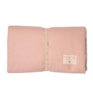 Nobodinoz - N107646 - Matelas à langer de voyage Mozart en coton bio 68x50 cm misty pink (386432)