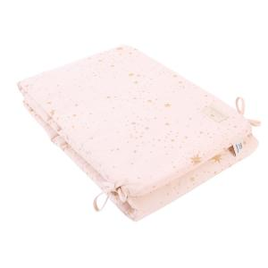 Nobodinoz - N096292 - Tour de lit Nest 207x32 cm gold stella - dream pink (386538)