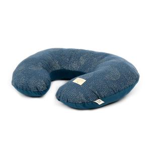 Nobodinoz - N098418 - Coussin d'allaitement Sunrise 50x60x15 cm gold bubble - night blue (386856)