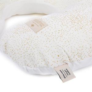 Nobodinoz - N098333 - Coussin d'allaitement Sunrise 50x60x15 cm gold bubble - white (386860)