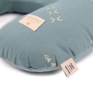 Nobodinoz - N098388 - Coussin d'allaitement Sunrise 50x60x15 cm gold secrets - magic green (386866)
