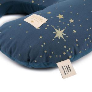 Nobodinoz - N098432 - Coussin d'allaitement Sunrise 50x60x15 cm gold stella - night blue (386872)