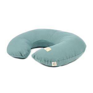 Nobodinoz - N098531 - Coussin d'allaitement Sunrise coton uni 50x60x15 cm magic green (386894)