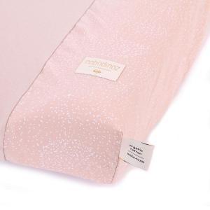 Nobodinoz - N098128 - Housse de matelas à langer Calma 70x50 cm en coton organique white bubble - misty pink (386930)