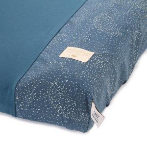 Nobodinoz - N098180 - Housse de matelas à langer Calma 70x50 cm en coton organique gold bubble - night blue (386932)
