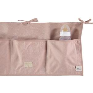 Nobodinoz - N099422 - Poches de rangement Merlin 30x60 cm white bubble - misty pink (386976)