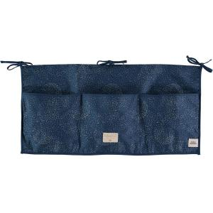 Nobodinoz - N099484 - Poches de rangement Merlin 30x60 cm gold bubble - night blue (386978)