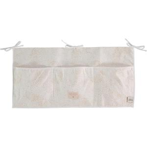 Nobodinoz - N099408 - Poches de rangement Merlin 30x60 cm gold bubble - white (386982)