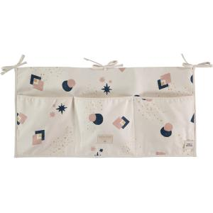 Nobodinoz - N099514 - Poches de rangement Merlin 30x60 cm night blue eclipse - natural (387002)