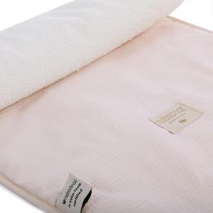 Nobodinoz - N097800 - Matelas à langer Nomad 60x35 cm coton uni dream pink (387084)