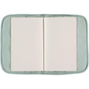 Nobodinoz - N098753 - Protège carnet de santé Poème 24x18 cm white bubble - aqua (387450)
