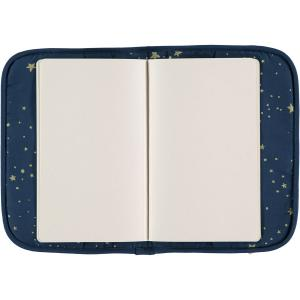 Nobodinoz - N098814 - Protège carnet de santé Poème 24x18 cm gold stella - night blue (387464)
