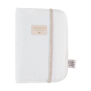 Nobodinoz - N098876 - Protège carnet de santé Poème 24x18 cm white (387476)