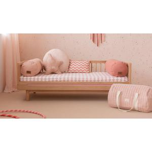 Nobodinoz - N105086 - Sac weekend New York 30x45x30 cm white bubble - misty pink (387536)