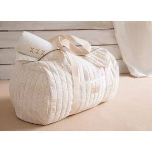 Nobodinoz - N105062 - Sac weekend New York 30x45x30 cm gold bubble - white (387542)