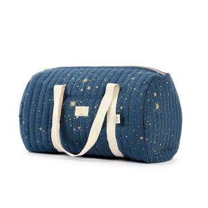 Nobodinoz - N105161 - Sac weekend New York 30x45x30 cm gold stella - night blue (387554)